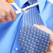The businessman with a tie — Stock Photo