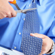 Stock Photo: The businessman with a tie