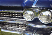 Detail of white retro car — Stock Photo