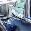 Rear-view mirror of retro car — Stock Photo