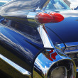 Detail of blue retro car — Stock Photo