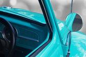 Rear-view mirror of retro car — Stock Photo