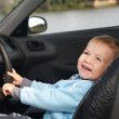 The boy sits in the automobile — Stock Photo #13918078