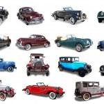 Collage. Retro the car — Stock Photo