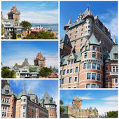 Collage. The castle in Canada — Stock Photo