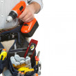 Mature contractor and drill — Stock Photo #24856489