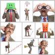 Royalty-Free Stock Photo: Collage.  The businessman