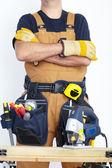 Mature Contractor. The carpenter — Stock Photo