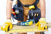 Mature Contractor. The carpenter — Stock Photo