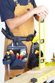 Mature Contractor. The carpenter — 图库照片