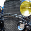 Stock Photo: Retro car. The headlight