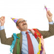 Stock Photo: Businessman and birthday.