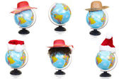 The terrestrial globe and bonnets — Stock Photo