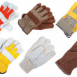 Stock Photo: Leather gloves. assortment