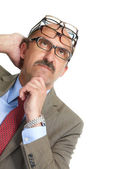 The businessman and spectacles — Stock Photo
