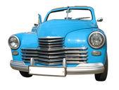 孤立的复古复古蓝色梦想豪华车 — 图库照片