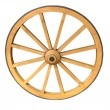 Antique Cart Wheel made of wood and iron-lined, isolated — Stock Photo #13914996