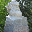 Постер, плакат: Karl Marx bust stone statue in Europe