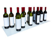 Unlabeled Wine Bottles Isolated over white — Stock Photo