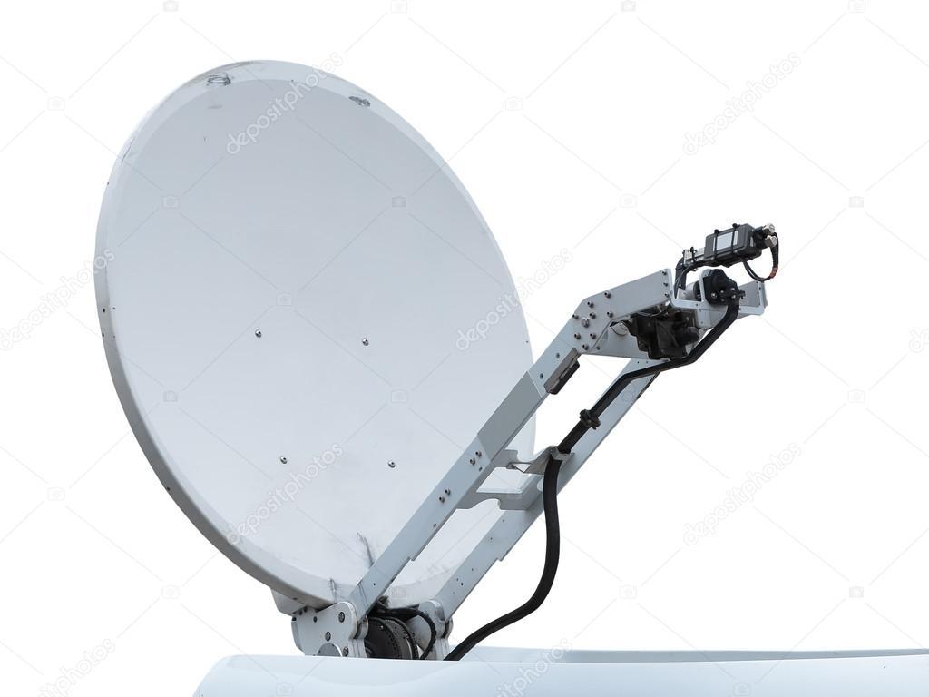 卫星天线上白色隔离