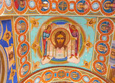Ornated roof interior of old orthodox church — ストック写真