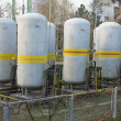 Old industrial chemical storage tanks — Stock Photo #16828659