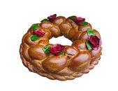 Beautifull baka bröd isolerade över vita — Stockfoto