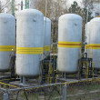 Old industrial chemical storage tanks — Stock Photo #18857209