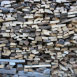 Background of dry chopped firewood logs in pile — Stock Photo #19494437