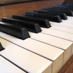 Close-up of old piano keyboard — Stock Photo #2257352