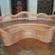 Vintage beautifull wicker comfortable furniture — Stock Photo