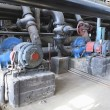Electric motors driving water pumps at power plant — Stok fotoğraf