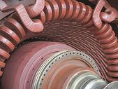 Generador de energía eléctrica y de la turbina de vapor durante la reparación — Foto de Stock