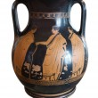 Ancient greek vase exposed in museum — Foto de Stock