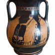 Ancient greek vase exposed in museum — Stok fotoğraf