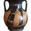 Ancient greek vase exposed in museum — Stock Photo