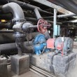 Stock Photo: Electric motors driving water pumps at power plant