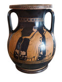 Ancient greek vase exposed in museum — Fotografia Stock