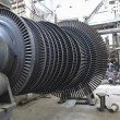 Power generator steam turbine during repair at power plant — Photo