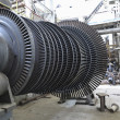 Power generator steam turbine during repair at power plant — 图库照片