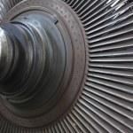 Power generator steam turbine during repair at power plant — Stock Photo