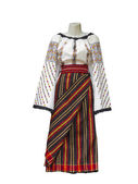 Balkan embroidered national traditional costume clothes isolated — Stock Photo