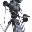 TV Professional studio digital video cameron tripod isolated o — Stock Photo #31287451