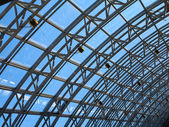 Structures of skylight glass roof window — Stock Photo