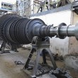 Stock Photo: Power generator steam turbine during repair at power plant