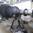 Power generator steam turbine during repair at power plant — Stok fotoğraf