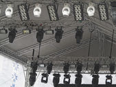Structures of stage spotlight equipment projectors — Foto de Stock