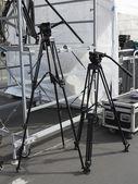 Tripod for photo and video cameras, scene equipment — Stock Photo