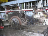 Power generator and steam turbine during repair — Stock Photo