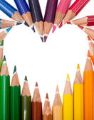 Colored Pencils Heart — Stock Photo